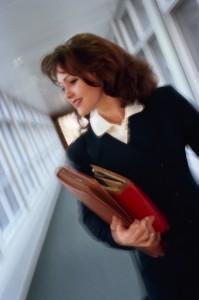 Businesswoman in Hallway