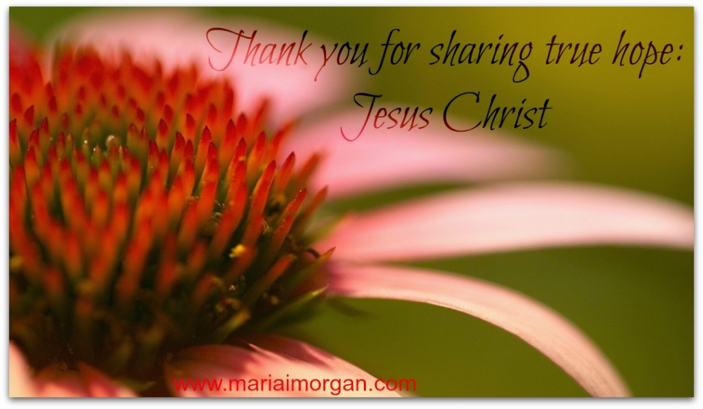Missionary thank you