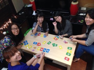 Our intern Sara invited friends she had made to her house for food and games