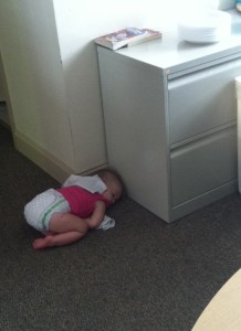 The baby learned to nap anywhere!