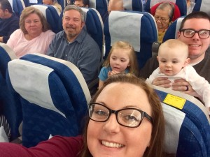 family on plane